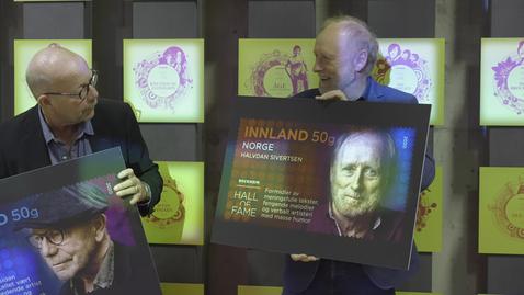 Thumbnail for entry Posten gir ut frimerker med tre artister som i år hedres med plass i Rockheim Hall of Fame
