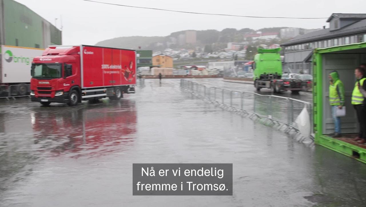 El-lastebil til Tromsø
