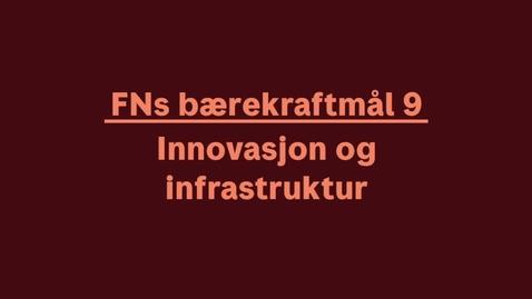 Thumbnail for entry Innovasjon og infrastruktur