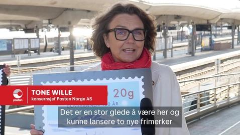 Thumbnail for entry Frimerkelansering Dovrebanen 100 år