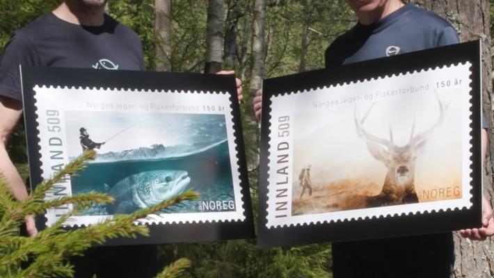Frimerkelansering Norges Jeger- og Fiskerforbund