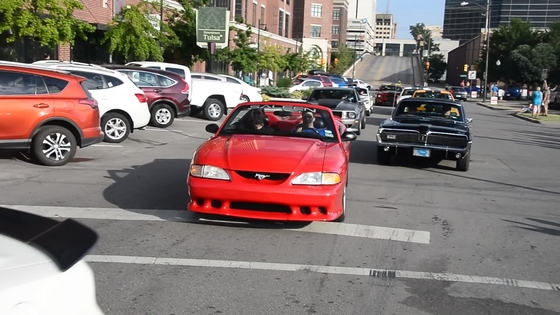 Mustangs & Fords Cruise Into Downtown Tulsa