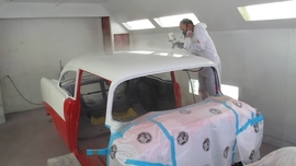 Painting a 1956 Chevy with two-stage Axalta