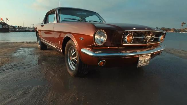 video thumbnail for brian frames 1965 mustang fastback