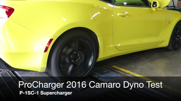 ProCharger 2016 Supercharged Camaro Dyno Test
