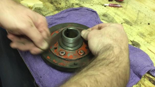 How to install a Chevy harmonic balancer repair sleeve