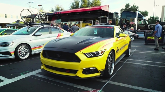 Prominent Mustangs out front at SEMA 2018