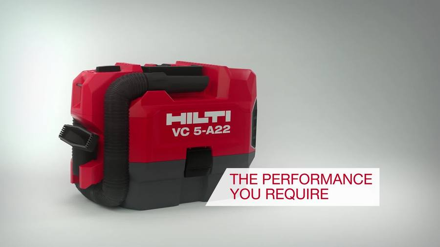 Video about Hilti VC 5-A22 vacuum cleaner