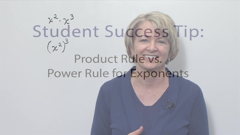 Thumbnail for entry Module 08 Product Rule vs Power Rule Exponents