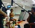 Filming in Barcelona