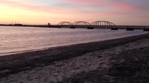 Aftenstemning ved Oddesundbroen