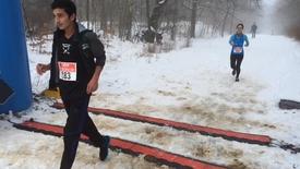 Thumbnail for entry Vinterløb i rigtigt vintervejr