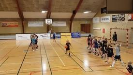 Thumbnail for entry Lemvig Basket besøger Alt i et-Skolen, Klinkby