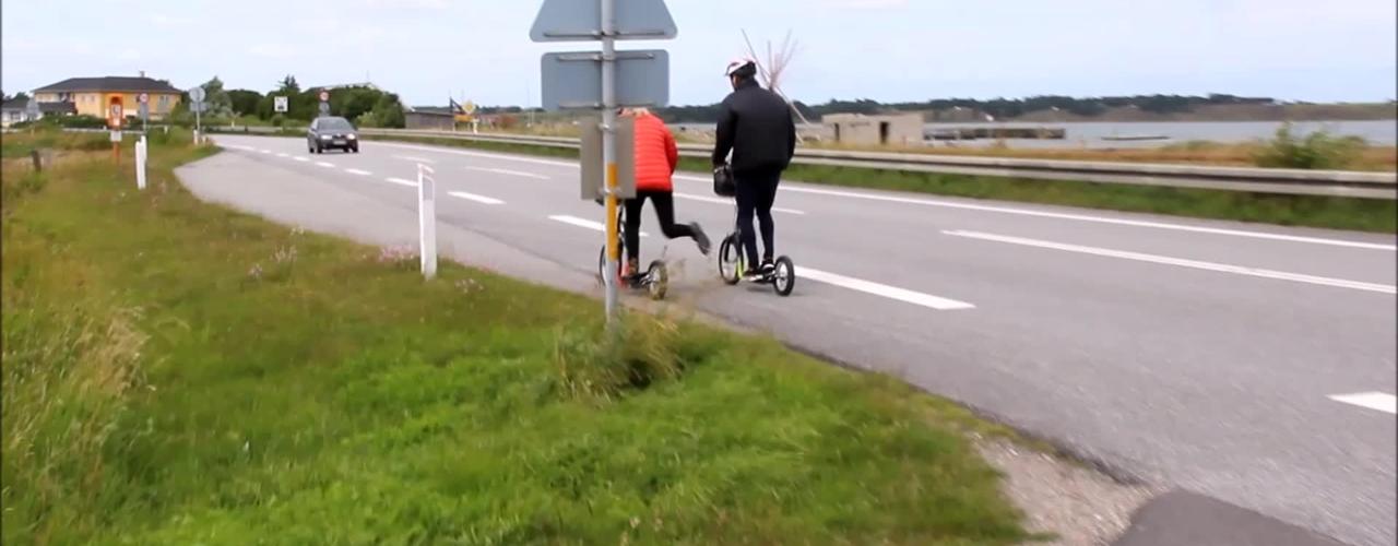 På løbehjul fra Holstebro til Klitmøller.