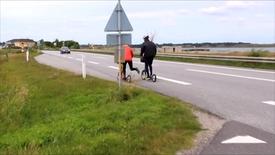 Thumbnail for entry På løbehjul fra Holstebro til Klitmøller.