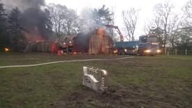 Thumbnail for entry To heste død i en brand i en lade ved Isenvad