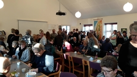 Thumbnail for entry BUSK gudstjeneste i Rødding endte i kagespisning
