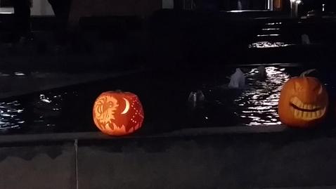 Halloween by night i Brande