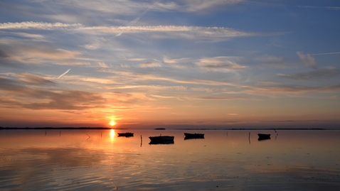 Solnedgang ved Hunseby strand 22 maj 2017