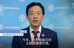 FAO DG Message on WFD 19 Chinese