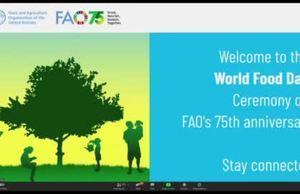 World Food Day/FAO75 anniversary, 16 October 2020 Ceremony