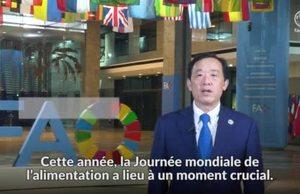 Journée Mondiale de l'alimentation 2021 : Message vidéo du Directeur général de la FAO