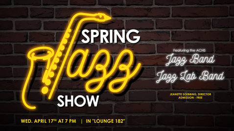 Thumbnail for entry Spring Jazz Show