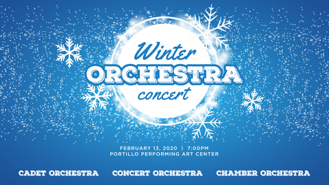 Thumbnail for entry Winter Orchestra Concert 2020