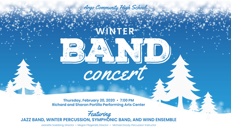 Thumbnail for entry Winter Band Concert 2020
