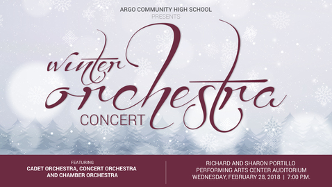Thumbnail for entry Winter Orchestra Concert