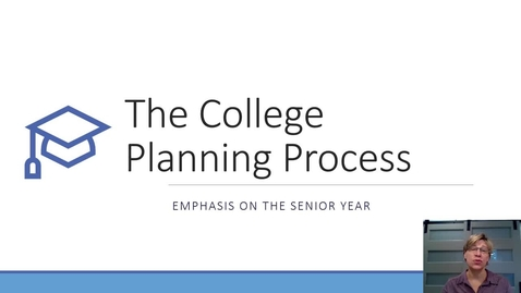 Thumbnail for entry College Planning Fall 2020