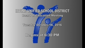 Thumbnail for entry 2016-10-18 School Board Meeting