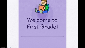 Thumbnail for entry 1st Grade BTSN First Grade