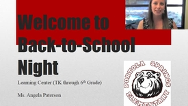 SAI 1 Paterson Back to School Night
