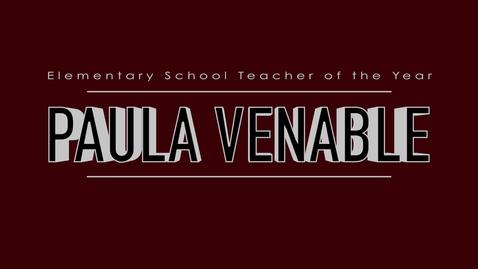 Paula Venable - 2015 Elementary School Teacher of the Year