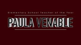 Paula Venable - 2015 Elementary School Teacher of the Year