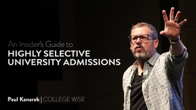 Thumbnail for entry Paul Kanarek - Insiders Guide to College Admissions