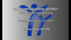 Thumbnail for entry 2016-11-15 School Board Meeting
