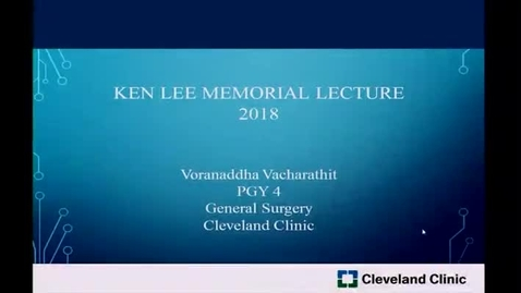 Thumbnail for entry Ken Lee Memorial Lecture: Healthcare and Environment