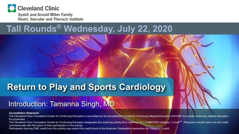 Thumbnail for entry Return to Play and Sports Cardiology