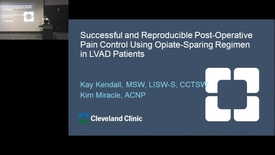 Thumbnail for entry Successful and Reproducible Post-Operative Pain Control Using Opiate-Sparing Regimen in LVAD Patients