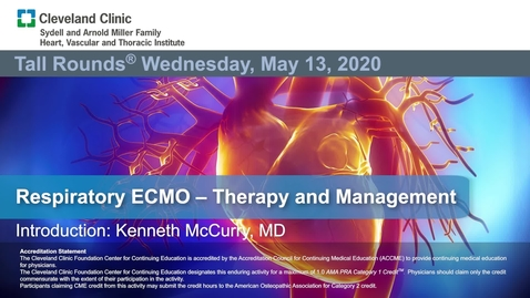 Thumbnail for entry Respiratory ECMO Therapy and Management