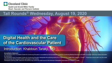 Thumbnail for entry Digital Health and the Care of the Cardiovascular Patient
