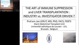 Thumbnail for entry The Art of Immune Suppression and Liver Transplantation: Industry vs. Investigator Driven?