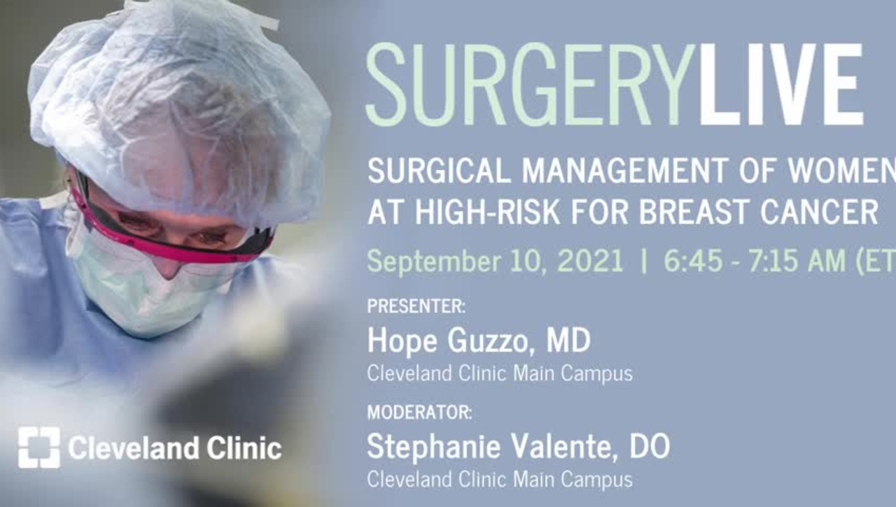 Surgical Management of Women at High-Risk for Breast Cancer