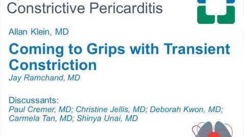 Thumbnail for entry Pericardial Cases: Coming to Grips with Transient Constriction