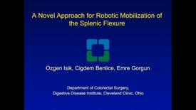 Thumbnail for entry A Novel Approach for Robotic Mobilization of the Splenic Flexure