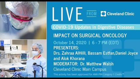 Thumbnail for entry Impact on Surgical Oncology - October 14,  2020