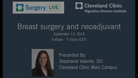 Thumbnail for entry Breast Surgery and Neoadjuvant Chemotherapy