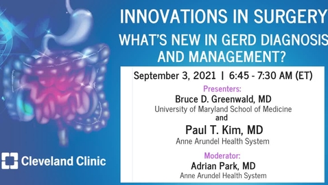 Thumbnail for entry What's New in GERD Diagnosis and Management?
